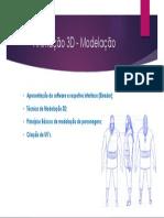 Animação 3D - Modelação