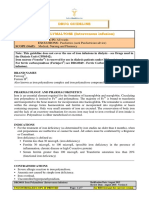 Drug Guideline for Iron Polymaltose Injection