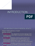 Adult Psychiatry Introduction