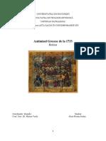 Antimisul Grecesc de La 1733