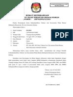 Formulir Surat Keterangan Pemilih Revisi