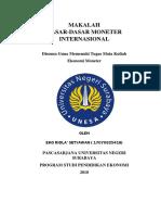 Makalah Dasar-dasar Moneter Internasional
