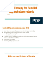 Presentation on Statin Therapy for Familial Hypercholesterolemia