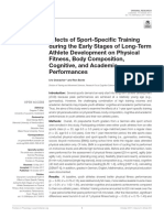 effects of sport-specific training during the early stages of long-term athlete development on physical fitness body composition cognitive and academic performances