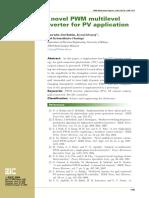 A Novel PWM Multilevel Inverter for PV Application