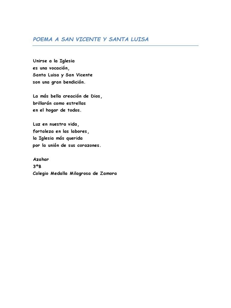 Cartas Y Poemas A San Vicente Y Santa Luisa Sociedad Caridad