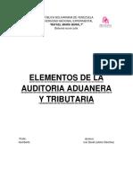 Elementos de La Auditoria Aduanera y Tributaria