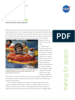 160410main Space Training Fact Sheet