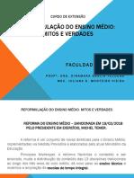 CURSO de EXTENSÃO Reformulaçao Do Ensino Medio
