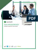 Lexmark MS320 Ms420 Datasheet