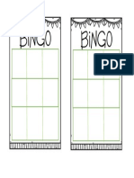 Bingo Board x6