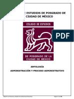Antologia Admnistracion y El Proceso Administrativo