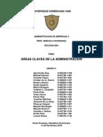 Areas Claves de La Administración