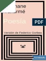 Poesia - Stephane Mallarme