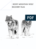 Northern Rocky Mountain Wolf Recovery Plan
