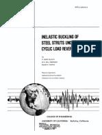 Inelastic Buckling of Steel Struts Under Cyclic Load Reversals