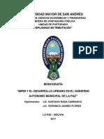 DIP-TRIB-V-XIII-006 IMPBI Y EL DESARROLLO URBANO  EN EL GOBIERNO AUTONOMO MUNICIPAL DE LA PAZ.pdf