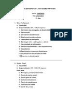 Roteiro de Estudos OAB - XXVI Exame Unificado
