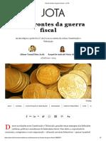 Novos Frontes Da Guerra Fiscal – JOTA