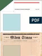 Plantillas Periódico Horizontal