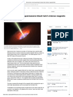 astronomers reveal supermassive black holes intense magnetic field