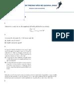 Revisão Sequencias PA e PG