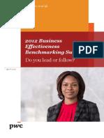 Business Effectiveness Benchmark Survey Ghana