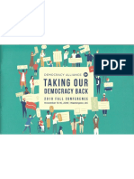 Democracy Alliance, Full Fall 2018 Agenda
