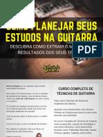 eBook Plano de Estudos Para Guitarra - CCTG