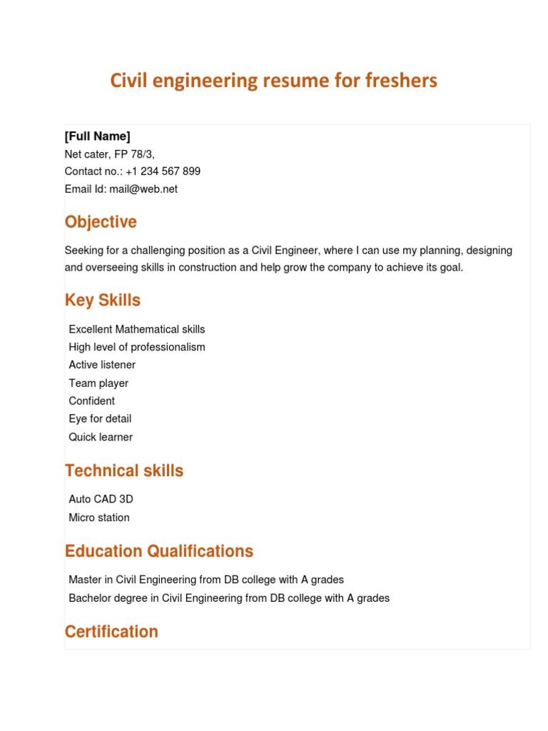 Skills civil engineering
