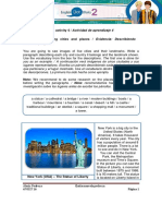 Evidence Describing Cities and Places