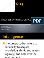 Chapter 15  theories of intelligence