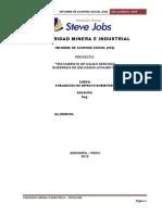 Modelo de Trabajo Par El Informe Tratamiento de Agua