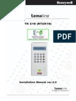 TK C19 (RTU K19) Compact Terminal - Installation Manual
