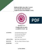 Carátula - Clasificacion de Suelos