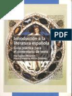 Introducción a la literatura española. Comentario de Textos