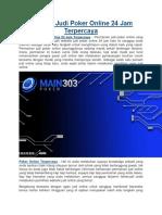 Website Judi Poker Online 24 Jam Terpercaya