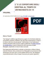 """""""Der Spiegel"""" e Le Coperture Degli Abusi in Argentina Al Tempo Di Bergoglio. Un'Inchiesta Di 19 Pagine."""