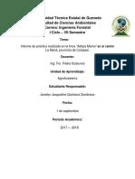 """Caracterización Biofísica en Sistemas agroforestales en la finca """"Ashpa Mama"""" en el cantón La Maná, provincia de Cotopaxi"""