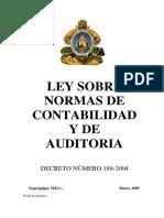 Ley Sobre Normas de Contabilidad y Auditoria