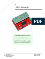 4 Digit Display v2 Technical Manual