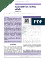 Dilemas en La Evaluación Paraclínica de La Función Tiroidea