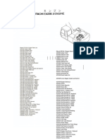 Hitachi EX220-3 Engine Parts List Reference