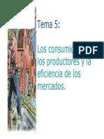 Consumidores, Productores y Eficiencia de Los Mercados