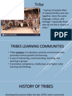 Tribes learning Presentation