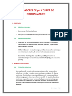 Indicadores de Ph y Curva de Neutralización