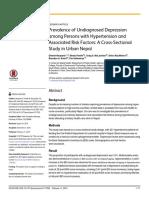 Prevalence of Undiagnosed Depr