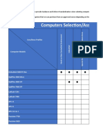 Computer Selection Matrix and Guidelines