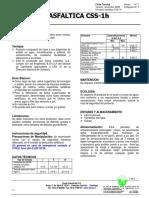 Emulsion Asfaltica CSS 1H