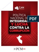 política naciona de integridad